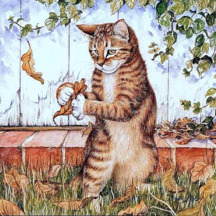 Дебби Кук и её пушистые рисунки 18