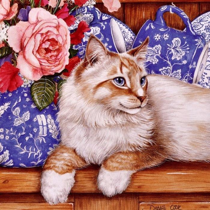 Дебби Кук и её пушистые рисунки 25