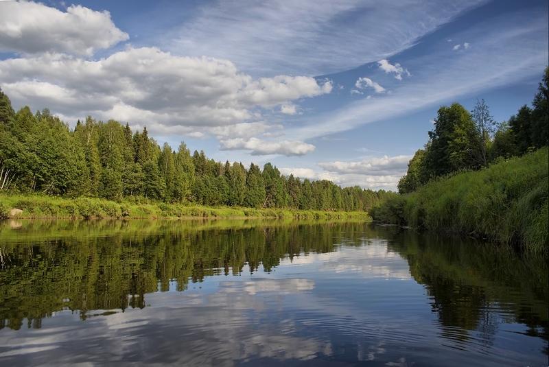 Река Юг близ деревни Иваково