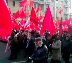 Колонна Левых сил 4 февраля 2012