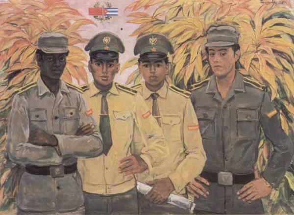 Кубинские курсанты-артиллеристы 1980 г Переяславец В_И