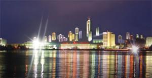 КНДР город Вонсан ночью 2015 год.jpg