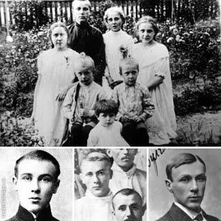 Верхнее фото: дети семьи Булгаковых на даче в Буче