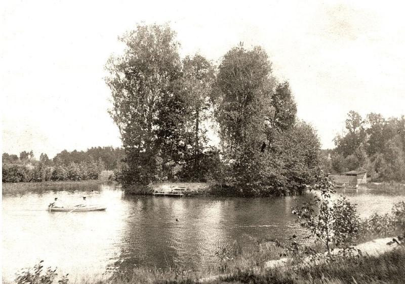 Возельское озеро. фото начала 20 в.