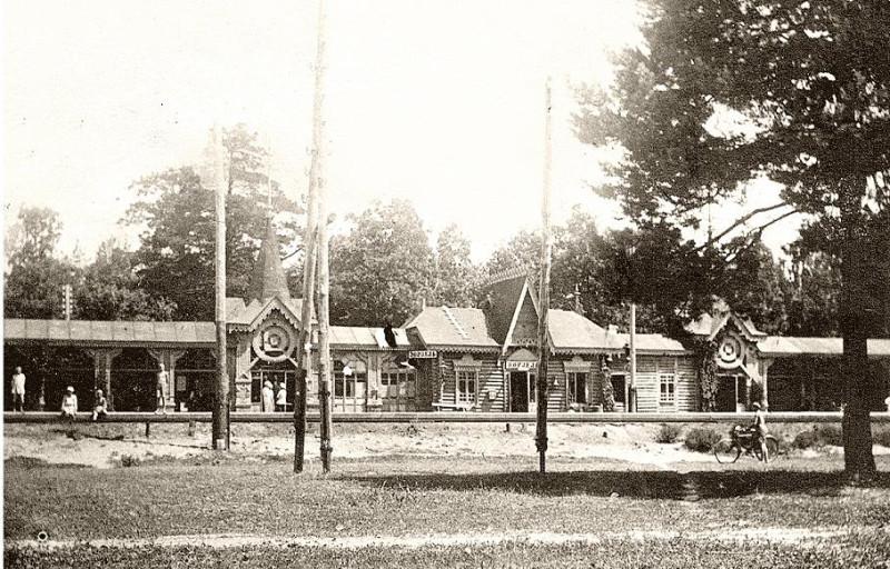 Деревянный ворзельский вокзал начала 20в.
