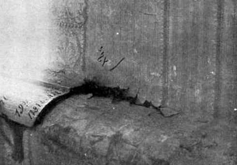 Надпись на стене комнаты, где убивали Романовых