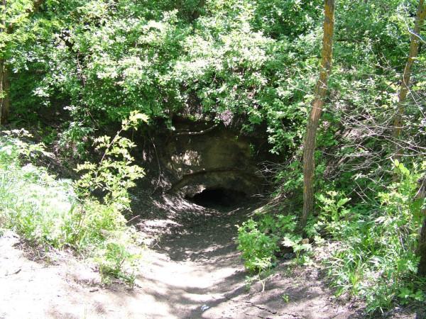 043 Лесополоса Брык вход в пещеру