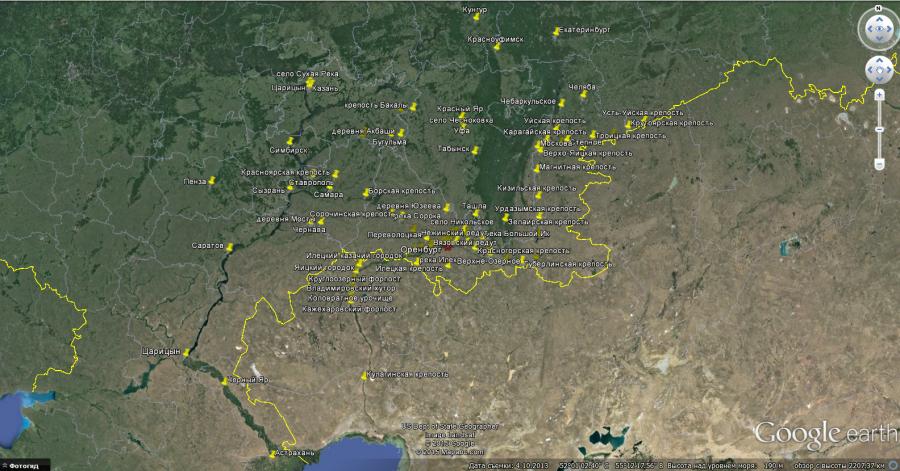 Карта по Пушкину