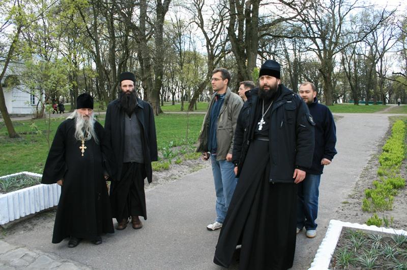 старец Херувим с клириками Черниговской епархии