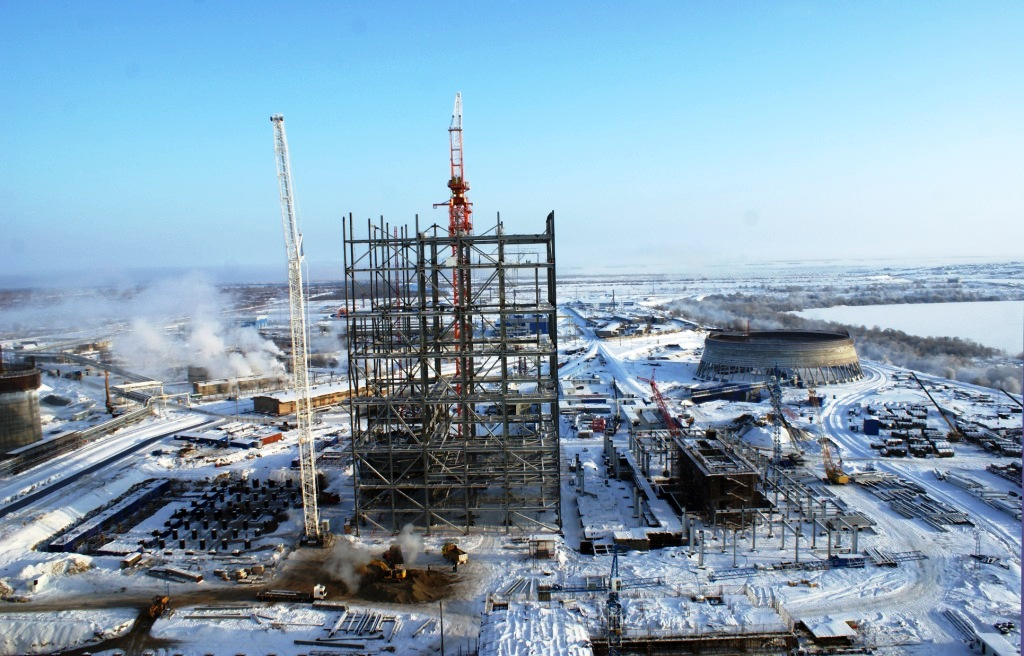 панорама строительной площадки, декабрь 2012 г.