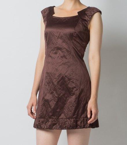 Платье Цвета Шоколад Из Атласа
