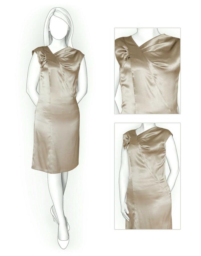 шишек платья из атласа фото выкройки посоветовали