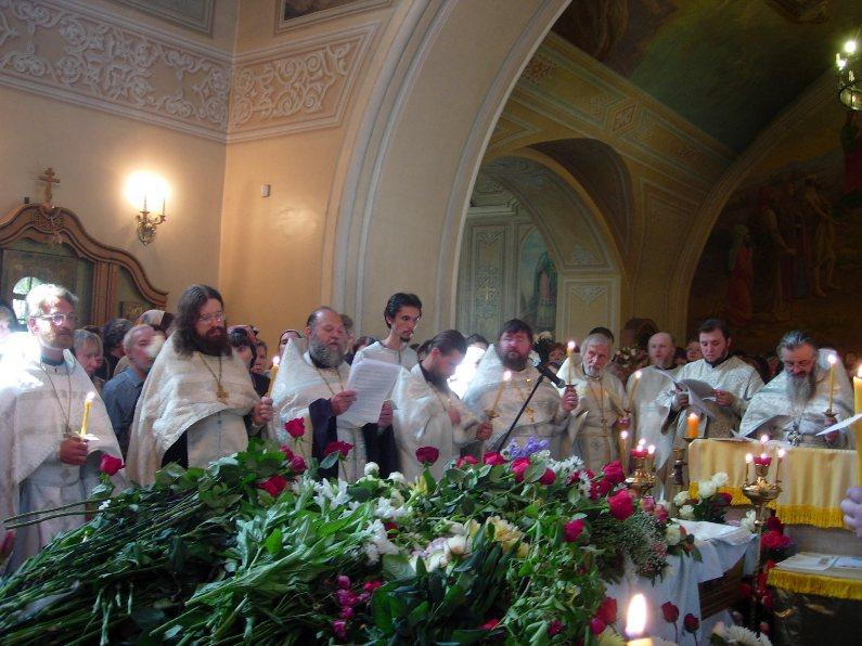 Отпевание Георгия Чистякова