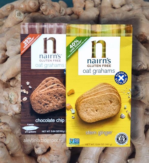 Новинка! Nairn's, Oat Grahams, Gluten Free, Stem Ginger