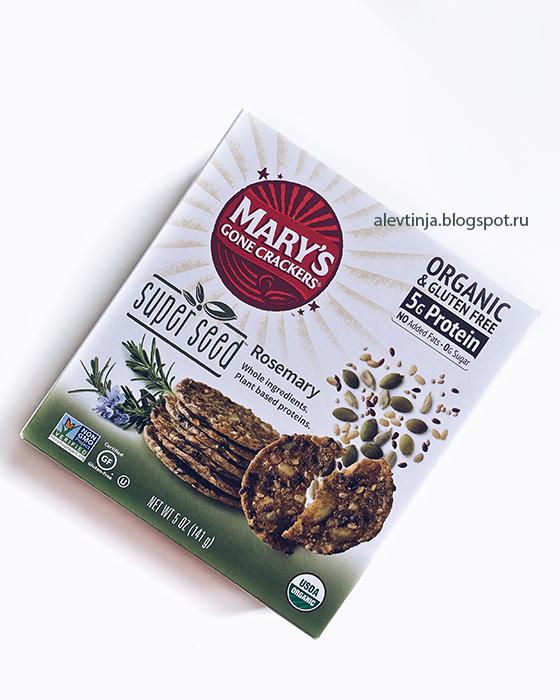 Новинка! Mary's Gone Crackers, Крекеры Super Seed, розмарин