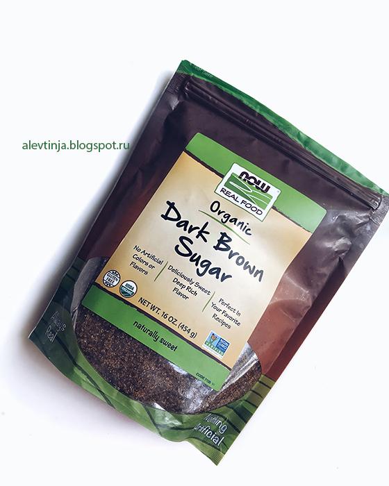 Новинка! Now Foods, Real Foods, органический коричневый сахар