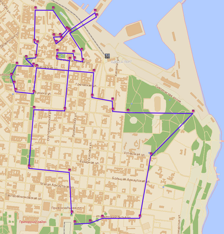 Примерный маршрут на день: