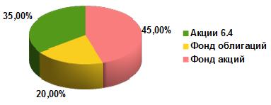 Целевое распределение портфеля из фондов УК Арсагера