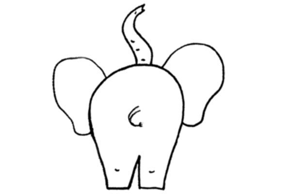 Слон, вид сзади