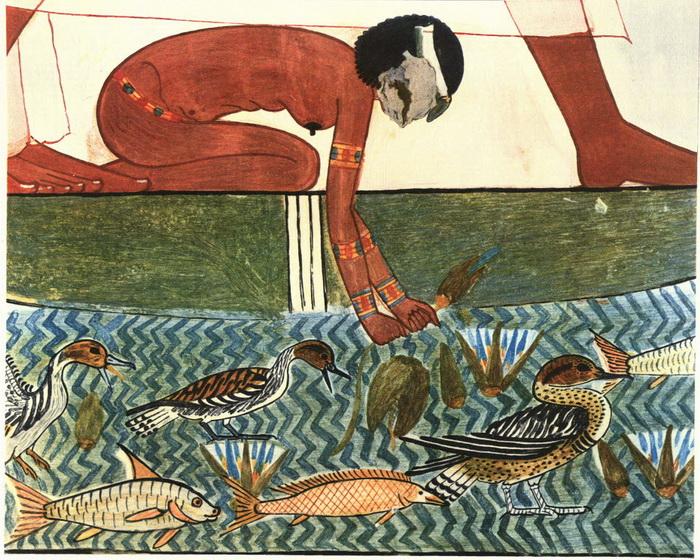 Ловля птиц, деталь