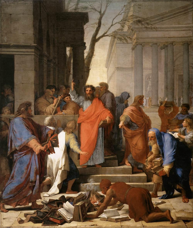 Эсташ Лёсюёр «Проповедь Святого Павла в Эфесе», 1649, Париж, Лувр