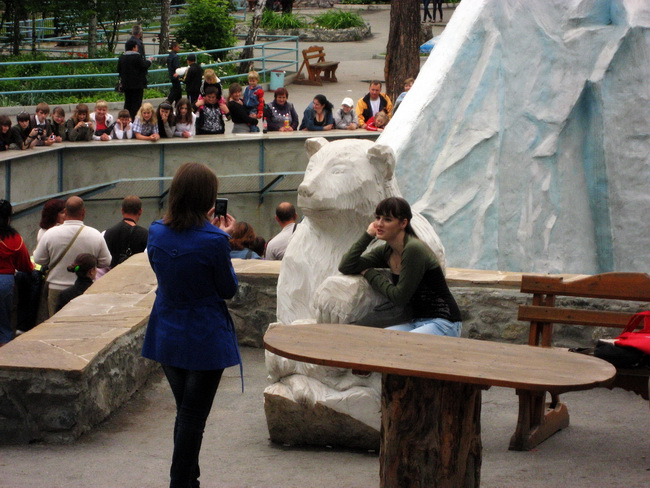 Девушки и ненастоящий медведь