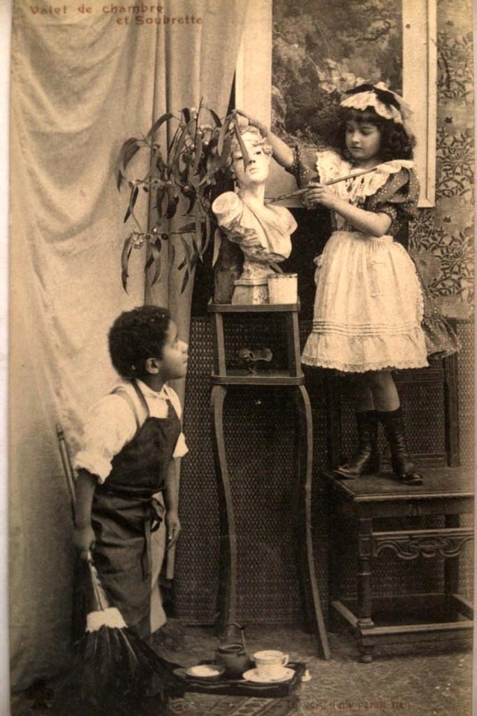 maid and black servant