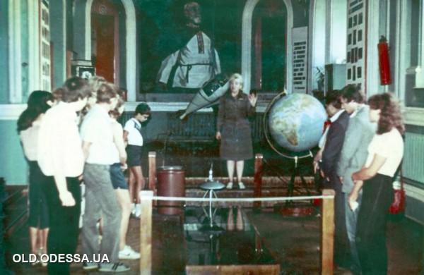 Одесский планетарий, в демонстрационном зале (1970-е ?)