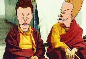 Бивис и Батхед в виде буддийских монахов