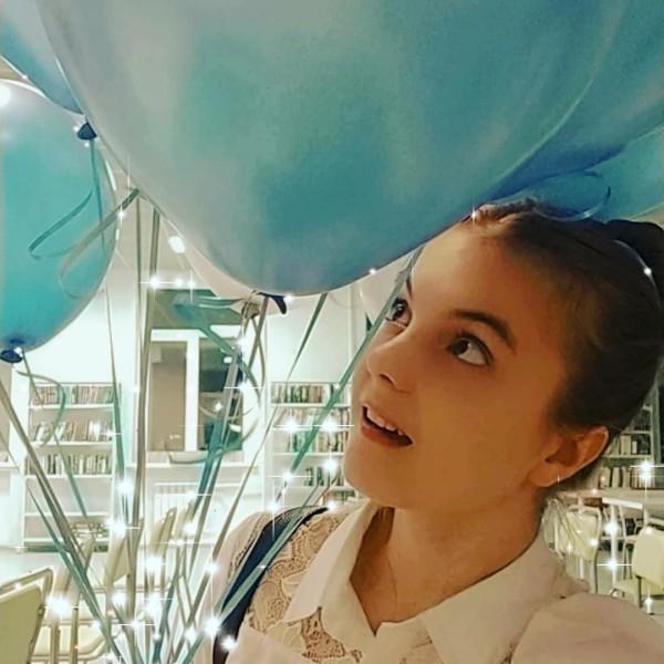 Лада Смирнова с воздушными шариками
