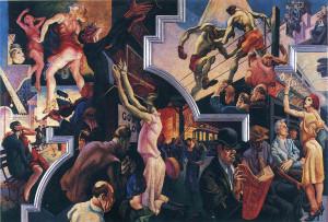 Томас Бентон «Городские развлечения и подземка», 1930 г.