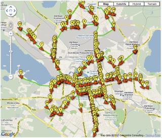 Карта трамваев Екатеринбурга