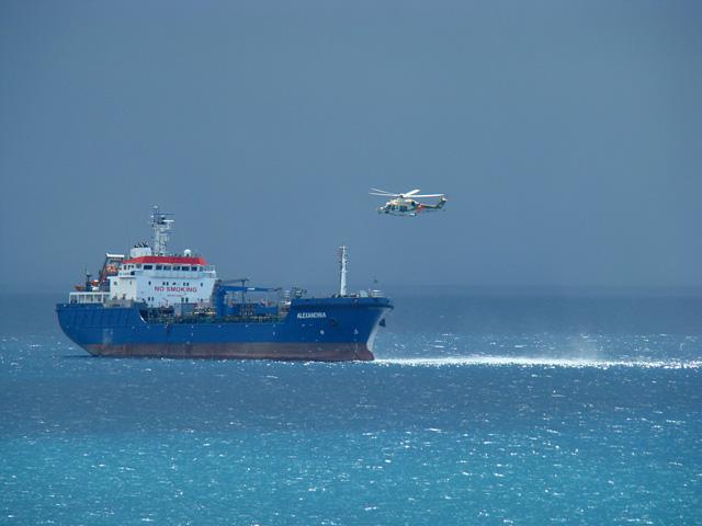 Кораблик и вертолёт