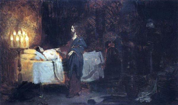 Илья-Ефимович-Репин--Воскрешение-дочери-Иаира-3.