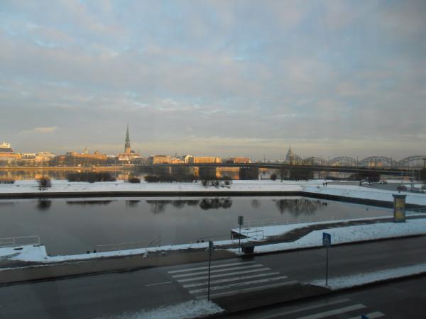 Вид из окна гостиницы в Риге