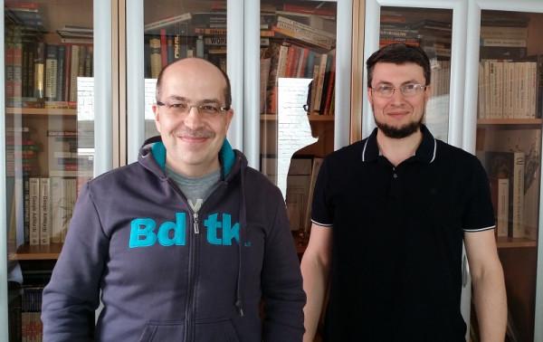 С Игорем Манном в офисе МИФ - два года назад