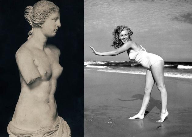Венера Милосская и Мэрилин Монро