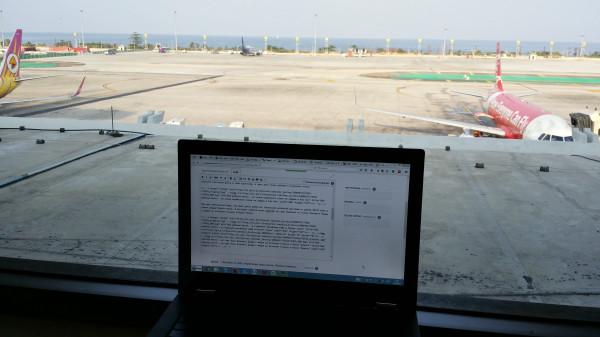 Моё рабочее место - VIP-лаунж Thai Airlines в аэропорту Пхукета