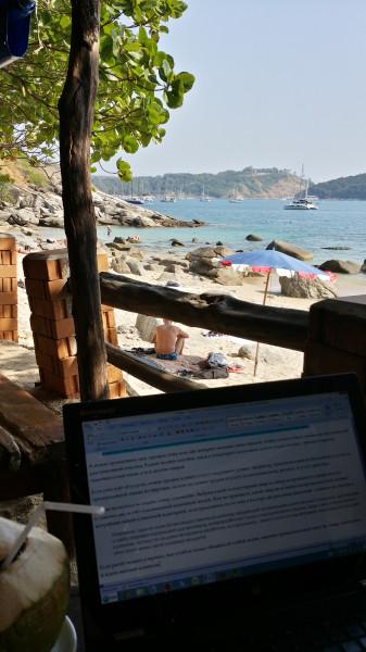 Моё рабочее место - пляжное кафе Aosane на острове Пхукет