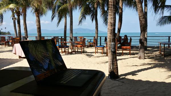 Моё рабочее место - ресторан гостиницы Palm Beach Resort на острове Самуи