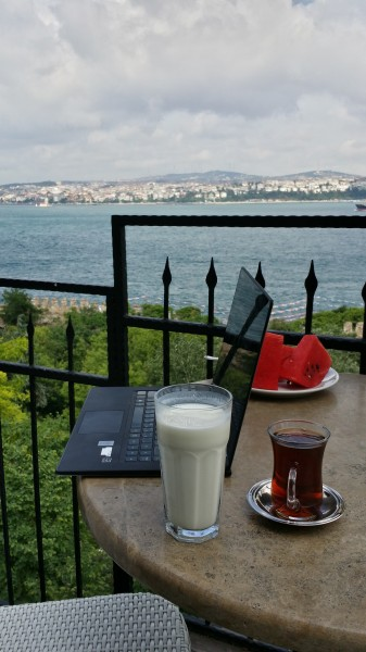 Моё рабочее место - кафе Konyali на задворках Топкапы, дворца султанов Османской империи, на берегу Босфора