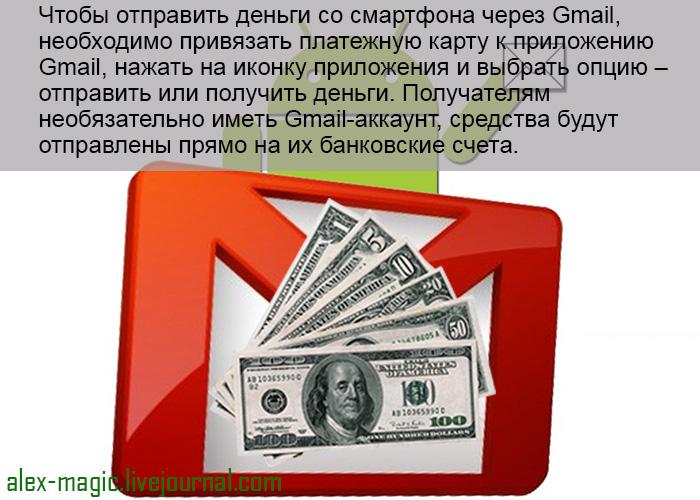 Денежные переводы Gmail на Android