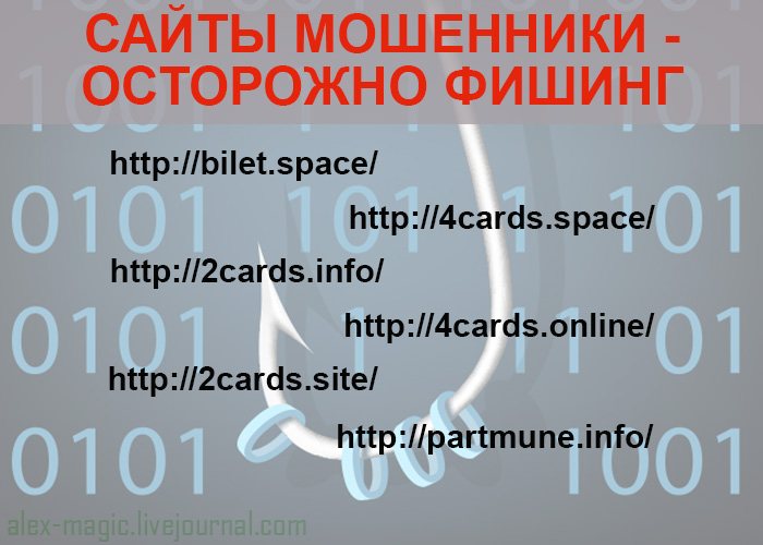 Фишинг сайты мошенники
