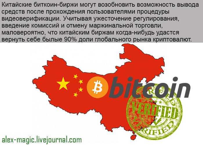 Биткоин-биржи Китая вводят верификацию пользователей по видео