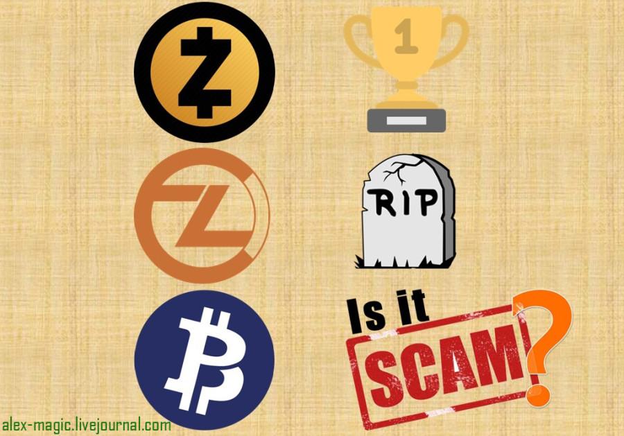 Сравнение Zcash, ZClassic и Bitcoin Private