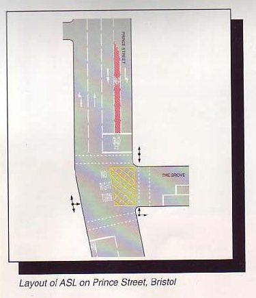 велополоса расположена между двух автомобильных полос