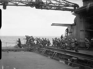 HMS King George V - landing party training 2