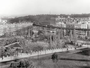 Фото 1908 года. Линии Elevated Railway над Морнингсайд-Парком