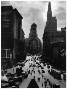 Times Square looking south from 47th Street. June 1930