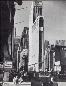 The Allied Chemical Building on One Times Square inaugurated in 1965 after modernisation of the old 1904-05 Times Tower